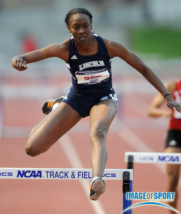 May 24, 2008; Walnut, CA, USA; Carla Thomas of Lincoln was second in the women's 400m hurdles in 59.42 in the NCAA Division II Track & Field Championships at Mt. San Antonio College's Hilmer Lodge Stadium.