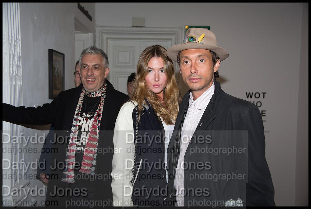 RIFAT OZBEC; DAISY BOYD; DAN MACMILLAN, Private view, Paul Simonon- Wot no Bike, ICA Nash and Brandon Rooms, London. 20 January 2015