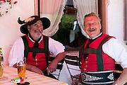 Beer festival in the village of Klais in Bavaria, Germany