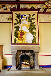 The fireplace in the KIng's Bedchamber, Stirling Castle, Scotland<br /> <br /> (c) Andrew Wilson   Edinburgh Elite media