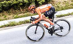 11.07.2019, Kitzbühel, AUT, Ö-Tour, Österreich Radrundfahrt, 5. Etappe, von Bruck an der Glocknerstraße nach Kitzbühel (161,9 km), im Bild Riccardo Zoidl (CCC Team, AUT) // Riccardo Zoidl (CCC Team, AUT) during 5th stage from Bruck an der Glocknerstraße to Kitzbühel (161,9 km) of the 2019 Tour of Austria. Kitzbühel, Austria on 2019/07/11. EXPA Pictures © 2019, PhotoCredit: EXPA/ JFK