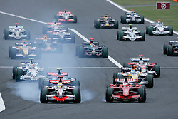 SHIZUOKA, JAPAN - Sunday, October 12, 2008: Lewis Hamilton (GBR, Vodafone McLaren Mercedes) leads from the start during the Japanese Formula One Grand Prix at the Fuji Speedway. (Photo by Michael Kunkel/Hochzwei/Propaganda)