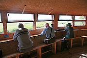 Birdwatching hide at Minsmere RSPB Reserve, Suffolk, England