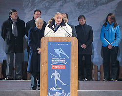 20.02.2013, Piazza Duomo, Trento, ITA, FIS Weltmeisterschaften Ski Nordisch, Eroeffnungsfeier, im Bild  FIS-Präsident  Gian Franco Kasper // FIS President Gian Franco Kasper during the Opening Ceremony of the FIS Nordic Ski World Championships 2013 at the Piazza Duomo, Trento, Italy on 2013/02/20. EXPA Pictures © 2013, PhotoCredit: EXPA/ Juergen Feichter