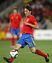 DAVID SILVA of Spain during the 2010 FIFA World Cup South Africa Group H match between Spain and Switzerland at Durban Stadium on June 16, 2010 in Durban, South Africa.