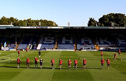 Sunderland players warm up - Mandatory by-line: Matt McNulty/JMP - 10/08/2017 - FOOTBALL - Gigg Lane - Bury, England - Bury v Sunderland - Carabao Cup - First Round