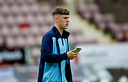 2nd Aug 2019, East End Park, Dunfermline, Fife, Scotland, Scottish Championship football, Dunfermline Athletic versus Dundee;  Josh Mulligan of Dundee inspects the pitch before the match