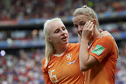 July 7, 2019 - Lyon, France - Jackie Groenen (FFC Frankfurt) of Netherlands dejected after the 2019 FIFA Women's World Cup France Final match between The United State of America and The Netherlands at Stade de Lyon on July 7, 2019 in Lyon, France. (Credit Image: © Jose Breton/NurPhoto via ZUMA Press)