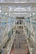 Prison officers, prisoners  on E wing. HMP Wandsworth, London, United Kingdom