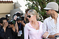 Celebrity couple and paparazzi