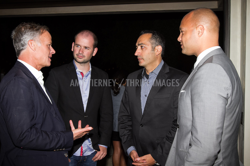 (L) Alan Klein, President and Group Publisher, Angeleno Magazine, Audi Representatives, and (far Right) Guy Brown, National Advertising Manager at Modern Luxury Media