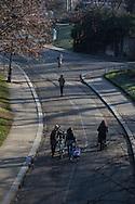 France. Paris, 19th district.  Buttes Chaumont parc / parc des buttes Chaumont