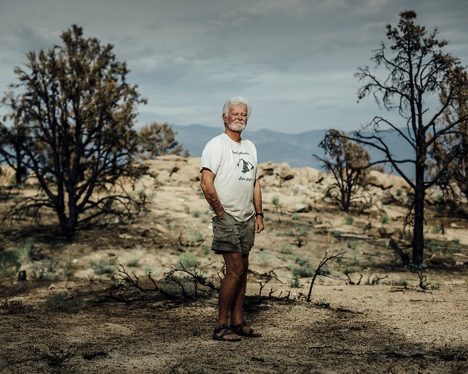 "Richard Hawk, Bishop, Mono County, California, USA. "" I lost the house I built with my son"". 