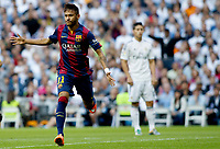 """Spanish  League""- match Real Madrid Vs FC Barcelona- season 2014-15 - Santiago Bernabeu Stadium -Neymar (FC Barcelona) Celebrates a goal during the Spanish League match against Real Madrid(Photo: Guillermo Martinez / Bohza Press / Alter Photos)"