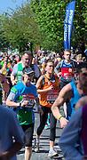 London. United Kingdom. 2014 London Marathon.  Narrow Street Limehouse, East London. Athletics 12:23:50  Sunday  13/04/2014  [Mandatory Credit; Peter SPURRIER/ Intersport Images],