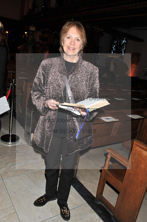 PENELOPE WILTON at the Fayre of St. James Christmas Carol Service organised by the Quintessentially Foundation in aid of War Child held St.James's Piccadilly, London on 29th November 2012.