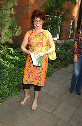 TV presenter RUBY WAX  at the annual House of Lords v House of Commons tug of war match in aid of  of  Macmillan Cancer Relief on 21st June 2005.  A drinks reception was held in College Gardens followd by the tug of war on Victoria Tower Gardens, London.                                 <br /><br />NON EXCLUSIVE - WORLD RIGHTS