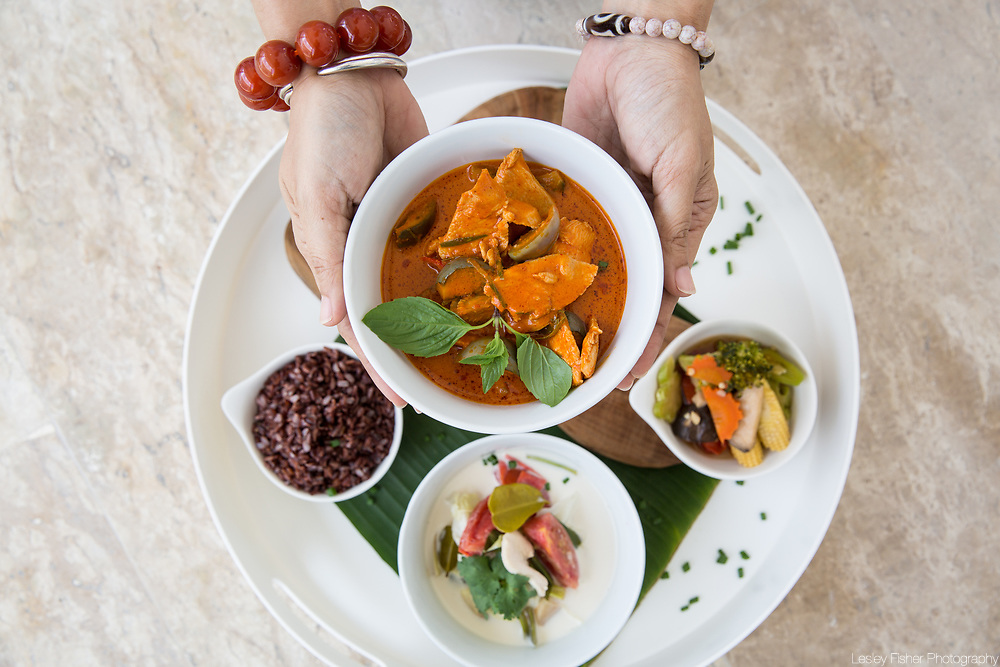 Thai cusine served at Skye beach and garden villas located in Plai Laem, Koh Samui, Thailand