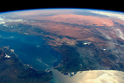 13 Mar 2016 -- British ESA astronaut Tim Peake on the International Space Station works took this amazing image of the Strait of Gibraltar on 13 Mar 2016. EXPA Pictures © 2016, PhotoCredit: EXPA/ Photoshot/ Tim Peake/Atlas Photo Archive/ESA<br /> <br /> *****ATTENTION - for AUT, SLO, CRO, SRB, BIH, MAZ, SUI only*****