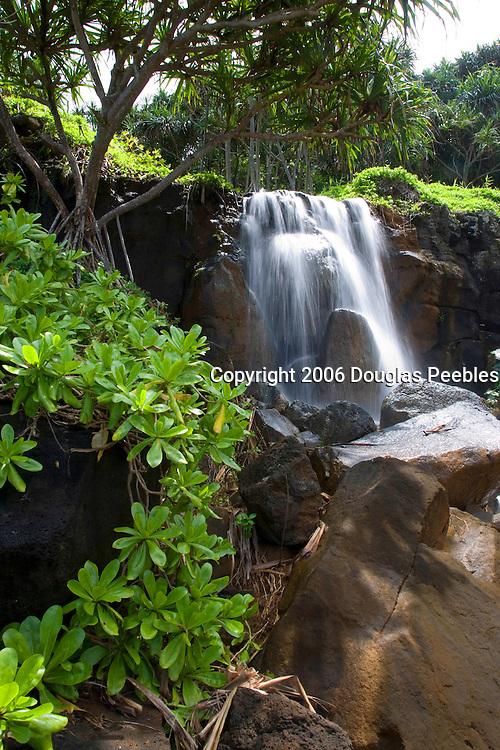 Waterfall, Princeville, Hanalei, Kauai, Hawaii