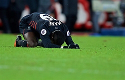 SUNDERLAND, ENGLAND - Monday, January 2, 2017: Liverpool's Sadio Mane looks dejected as his side draw 2-2 with Sunderland, who were awarded two penalties, during the FA Premier League match at the Stadium of Light. (Pic by David Rawcliffe/Propaganda)