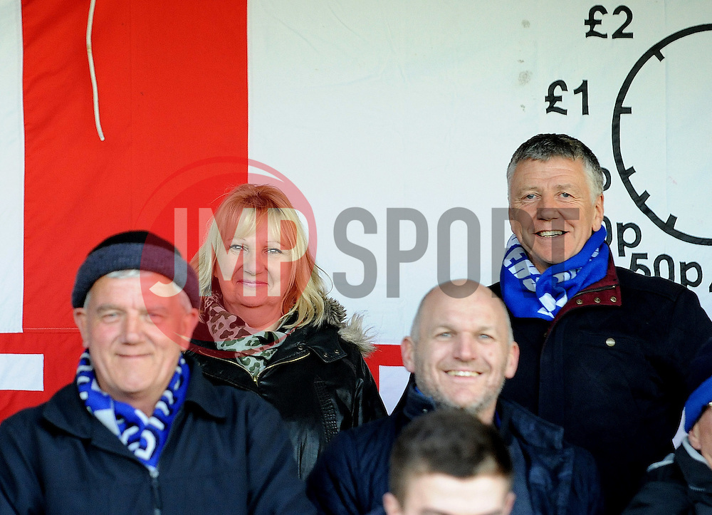 fans - Photo mandatory by-line: Neil Brookman/JMP - Mobile: 07966 386802 - 29/04/2015 - SPORT - Football - Nailsworth - The New Lawn - Forest Green Rovers v Bristol Rovers - Vanarama Football Conference