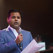 London, Uk. 15th Oct, 2017. Speaker Deputy Mayor of London, Rajesh Agrawal at the Diwali in Trafalgar Square.
