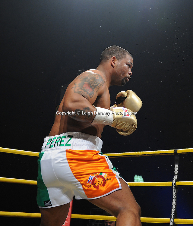 Mike Perez pictured whilst fighting Gregory Tony in Semi Final 1 at Prizefighter International on Saturday 7th May 2011. Prizefighter / Matchroom. Photo credit © Leigh Dawney. Alexandra Palace, London.