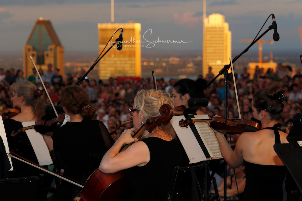 Concert on the Mont Royal Belvedere, Montreal, Quebec, Canada