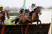 Faugheen and Ruby Walsh lead the field in the first circuit of the 3.25pm The Betway Aintree Hurdle (Grade 1) 2m 4fduring the Grand National Festival Week at Aintree, Liverpool, United Kingdom on 4 April 2019.