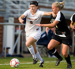 Virginia Cavaliers forward Lauren Alwine (9) in action against WFU.  The Wake Forest Demon Deacons defeated the #11 ranked Virginia Cavaliers 1-0 NCAA women's soccer at Klockner Stadium on the Grounds of the University of Virginia in Charlottesville, VA on November 2, 2008.