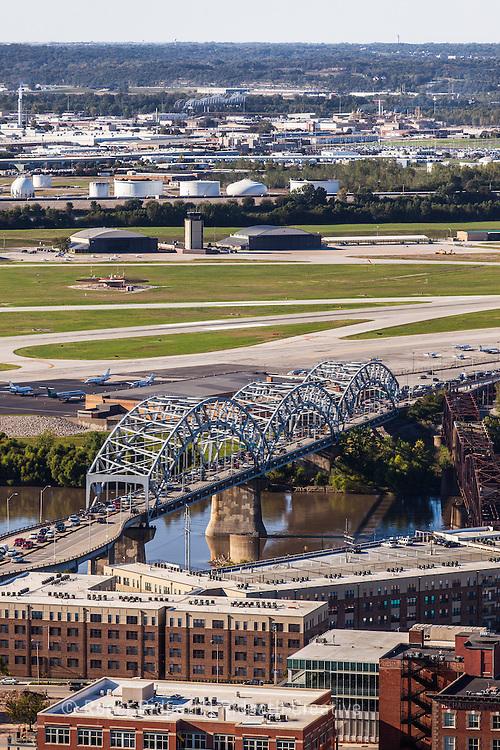 Broadway Bridge and Wheeler Downtown Airport Kansas City Missouri