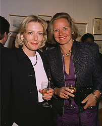 Left to right, LADY BRIDGET WALTERS 3rd wife of Sir Dennis Walters, and MRS MICHAEL RHODE the South African millionairess, at an exhibition in London on April 15th 1997.LXP 25