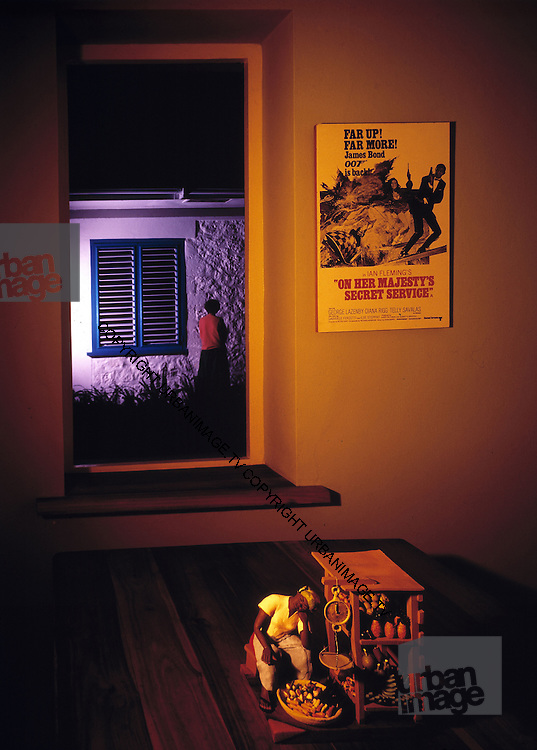 Fleming House Interior - Goldeneye - Jamaica 1976