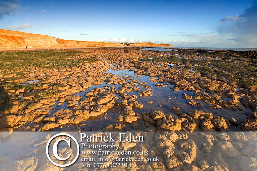 isle of wight, beach, Compton Bay, wave cut platform, Fossil, Dinosaur, coast, sunset Photographs of the Isle of Wight by photographer Patrick Eden photography photograph canvas canvases