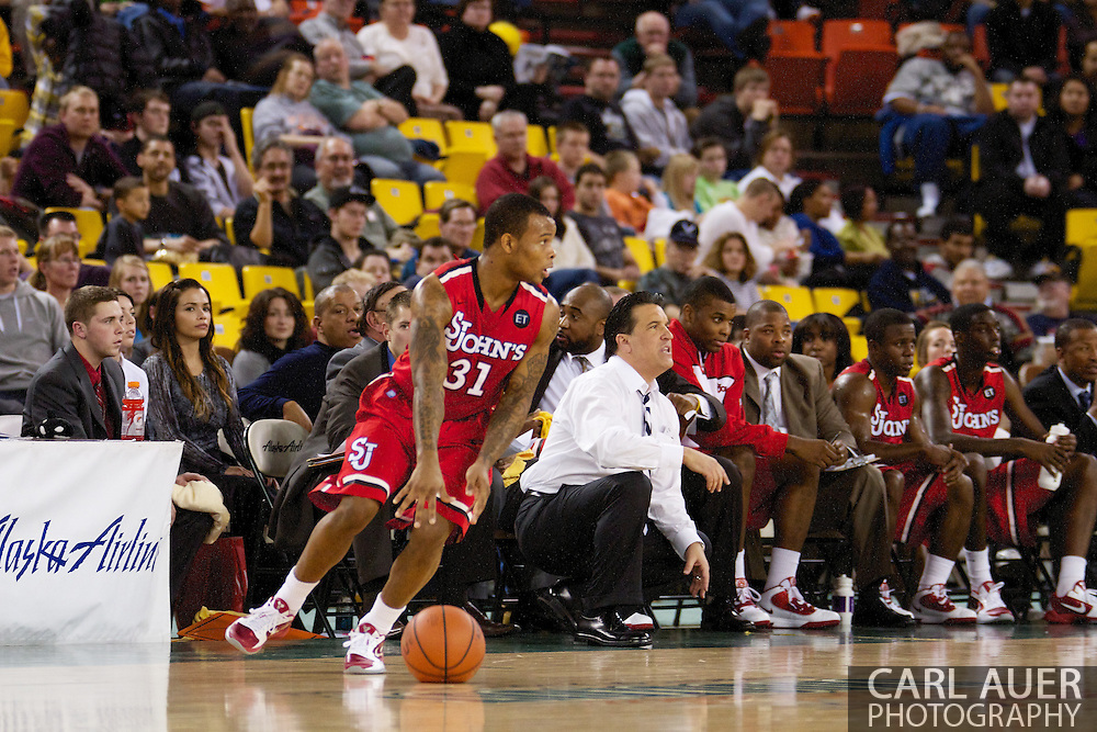 November 27th, 2010:  Anchorage, Alaska - St. John's Malik Stith (31) in the Championship game of the Great Alaska Shootout.  The Red Storm would go on to beat the Arizona State Sun Devil's 67-58 to capture their first Shootout championship.