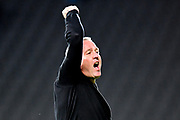Ipswich Town manager Paul Lambert  celebrates victory in front of the Ipswich Town supporters during the EFL Sky Bet League 1 match between Milton Keynes Dons and Ipswich Town at stadium:mk, Milton Keynes, England on 17 September 2019.
