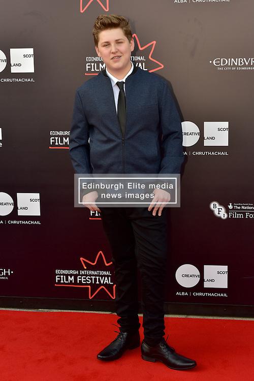 William Ahern (Actor) on the red carpet at the 2016 Edinburgh International Film Festival, WORLD PREMIERE of The White King at Cineworld, Edinburgh18th June 2016, (c) Brian Anderson   Edinburgh Elite media