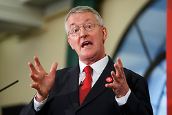 © Licensed to London News Pictures. 13/06/2016. London, UK. Shadow Foreign Secretary HILARY BENN delivers a speech to make his case for remaining in the European Union on Monday, 13 June 2016. Photo credit: Tolga Akmen/LNP