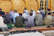 Uzbekistan, Khiva. Sayid Niaz Shekilarbeg Mosque. Friday noon prayer.