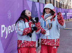 08-02-2018 KOR: Olympic Games day -1, Pyeongchang<br /> Volunteer during a preliminary reports ahead of the opening of the Pyeongchang 2018 Winter Olympic Games at the Olympic Media Village in Gangneung, South Korea on 2018/02/05.<br /> <br /> *** USE NETHERLANDS ONLY ***