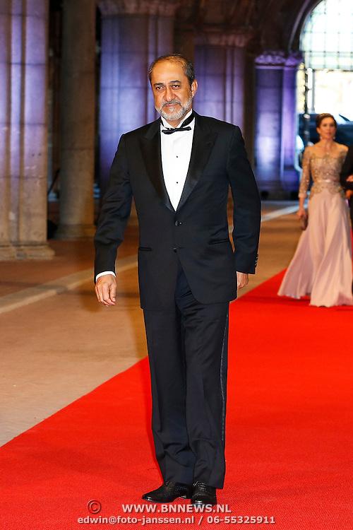 NLD/Amsterdam/20130429- Afscheidsdiner Konining Beatrix Rijksmuseum, prince Haitham bin Tareq el Said of Oman