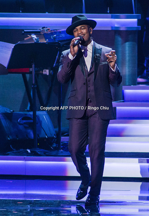 Performer Ne-Yo performs at a concert, Stevie Wonder: Songs In The Key Of Life - An All-Star GRAMMY Salute, at Nokia Theatre L.A. Live on February 10, 2015 in Los Angeles, California. AFP PHOTO / Ringo Chiu