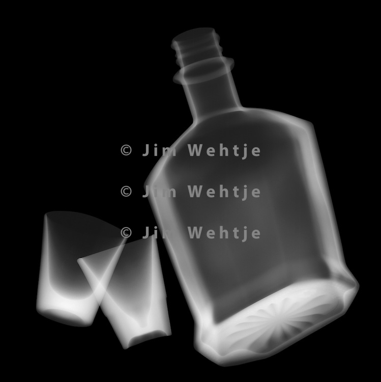 X-ray image of shots (white on black) by Jim Wehtje, specialist in x-ray art and design images.