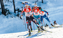 29.01.2017, Casino Arena, Seefeld, AUT, FIS Weltcup Nordische Kombination, Seefeld Triple, Langlauf, im Bild Philipp Orter (AUT), Francois Braud (FRA) // Philipp Orter of Austria Francois Braud of France during Cross Country Gundersen Race of the FIS Nordic Combined World Cup Seefeld Triple at the Casino Arena in Seefeld, Austria on 2017/01/29. EXPA Pictures © 2017, PhotoCredit: EXPA/ JFK