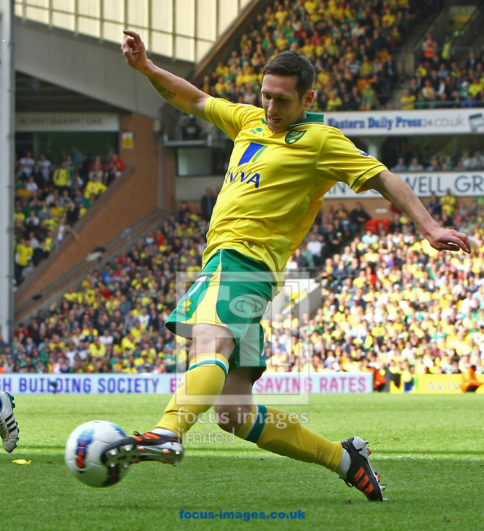 Picture by Paul Chesterton/Focus Images Ltd.  07904 640267.13/05/12.Andrew Crofts of Norwich in action during the Barclays Premier League match at Carrow Road Stadium, Norwich.
