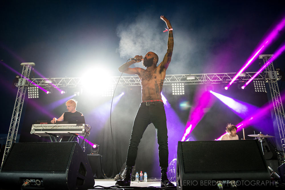 MC Ride of Death Grips live at Field Day London on 3 June 2017