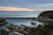 Dana Cove at Dana Point Harbor at Sunset