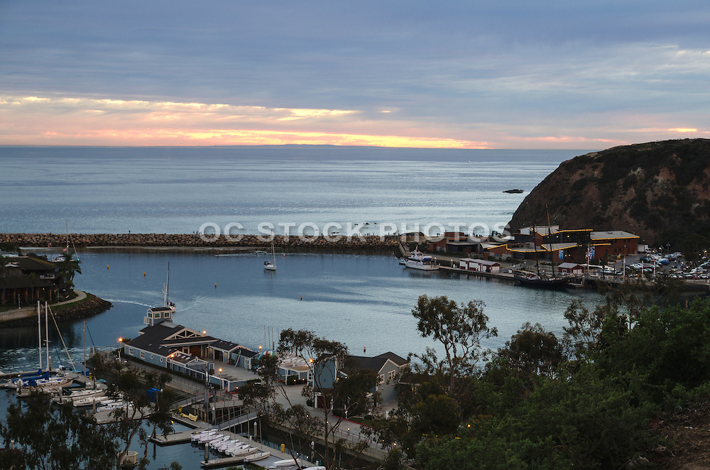 Dana Cove at Dana Point Harbor at Sunset