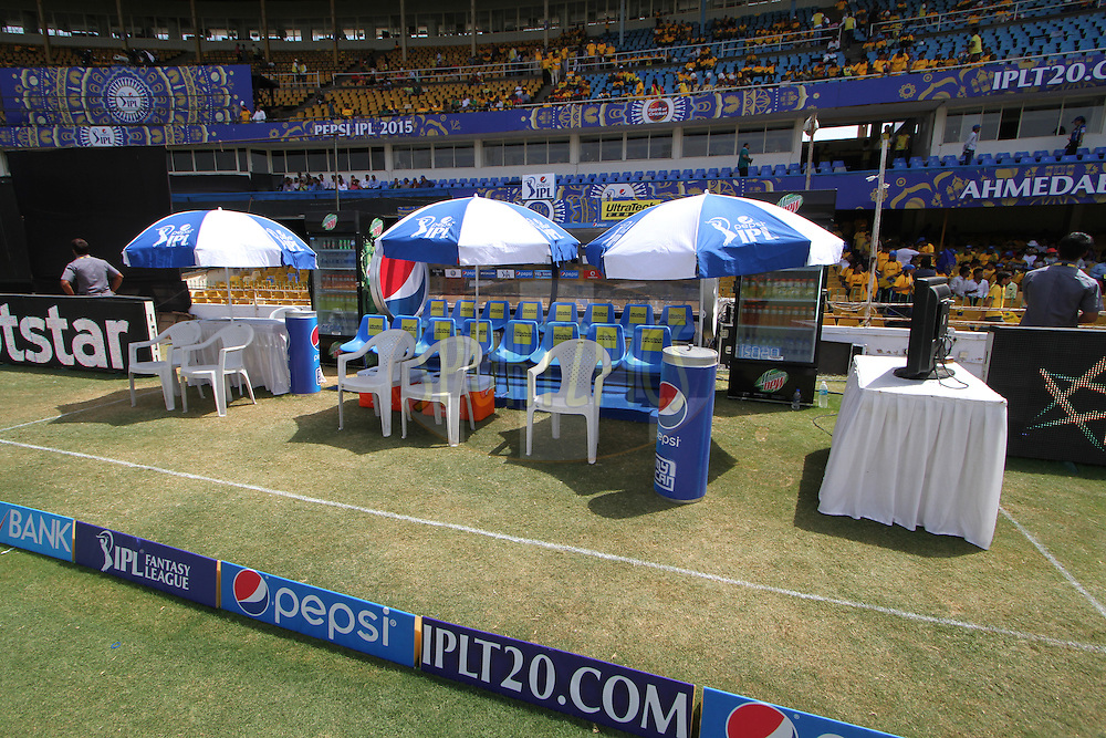 A general view of Sardar Patel Stadium before the match 15 of the Pepsi IPL 2015 (Indian Premier League) between The Rajasthan Royals and The Chennai Superkings held at the Sardar Patel Stadium in Ahmedabad , India on the 19th April 2015.<br /> <br /> Photo by:  Deepak Malik / SPORTZPICS / IPL